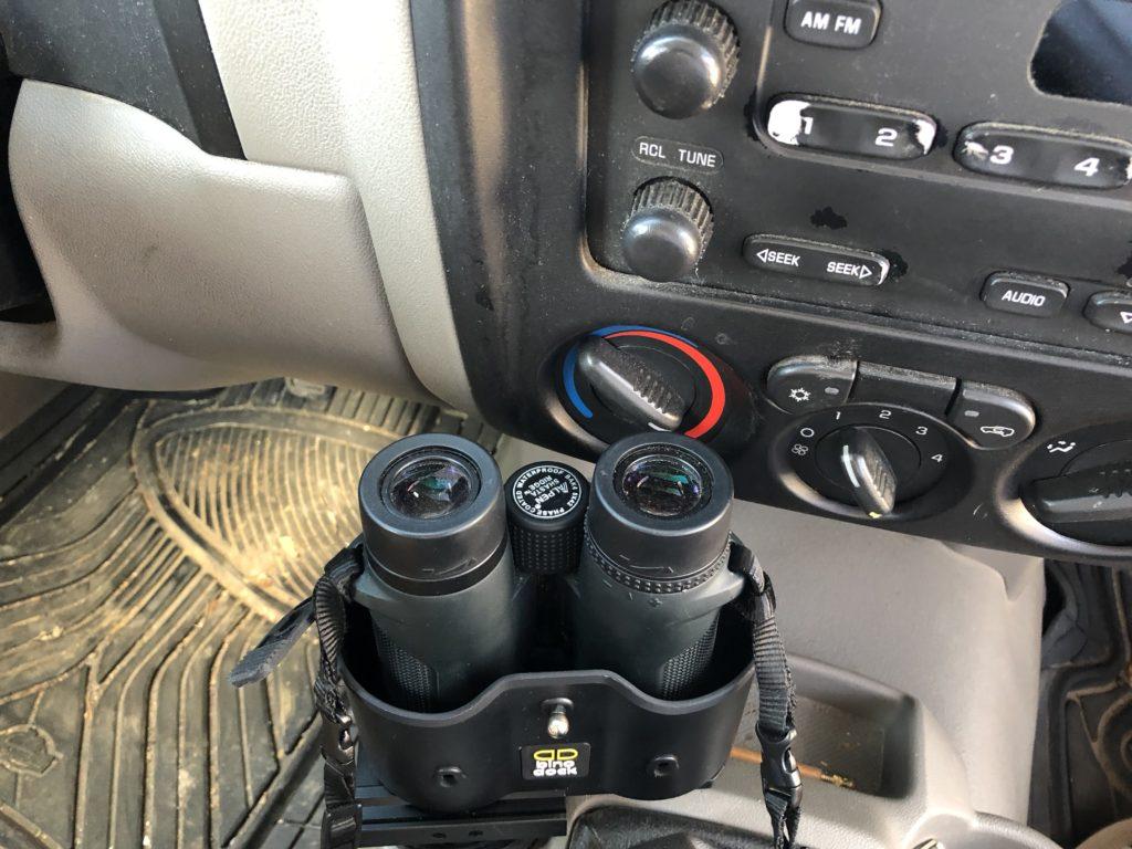 Binoculars in Bino Dock