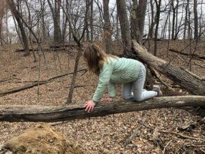 Girl crawling