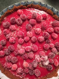 Red cranberry pie