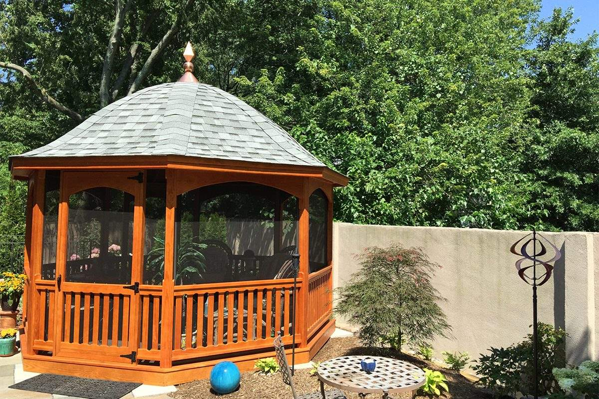 Belle Roof Wood Gazebo