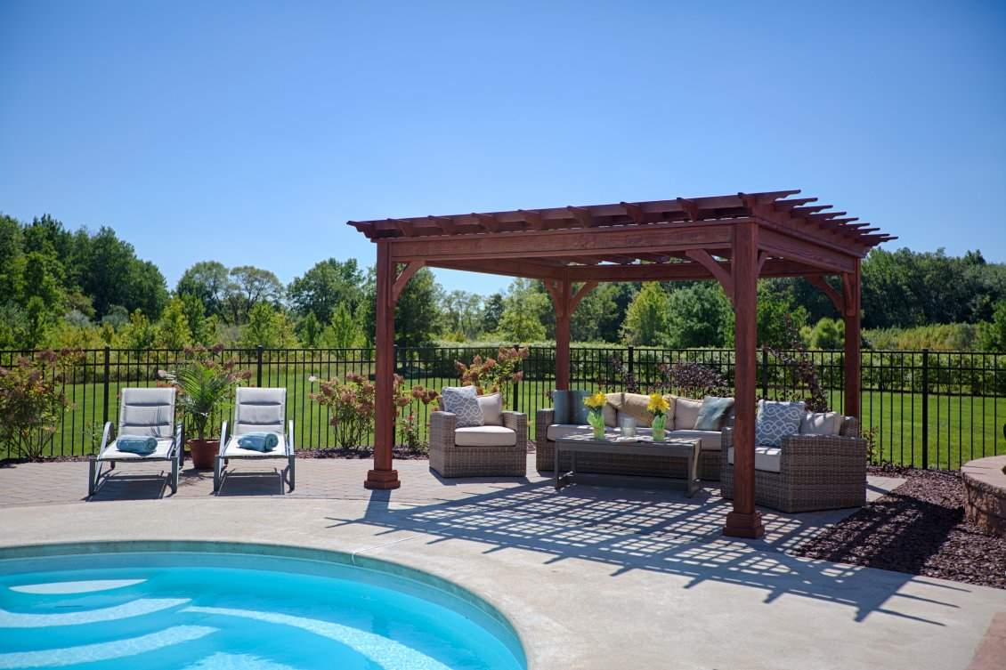 10' x 12' Traditional Wood Pergola