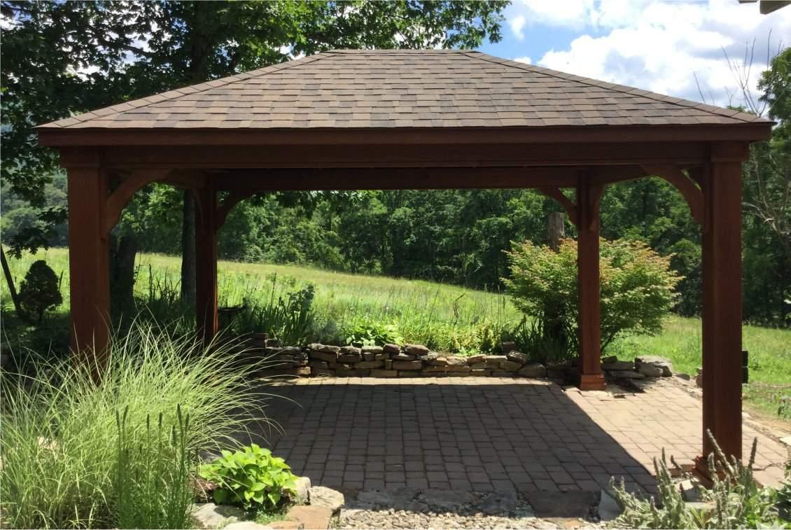 Traditional Wood Pavilion, 8x8 posts