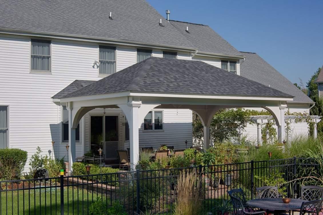 Grand Estate White Vinyl Pavilion