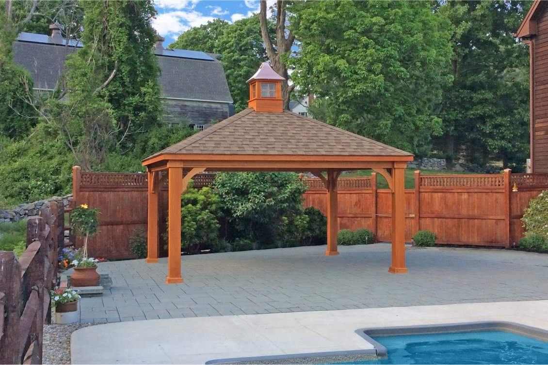 Wood Pavilion with 8x8 square posts