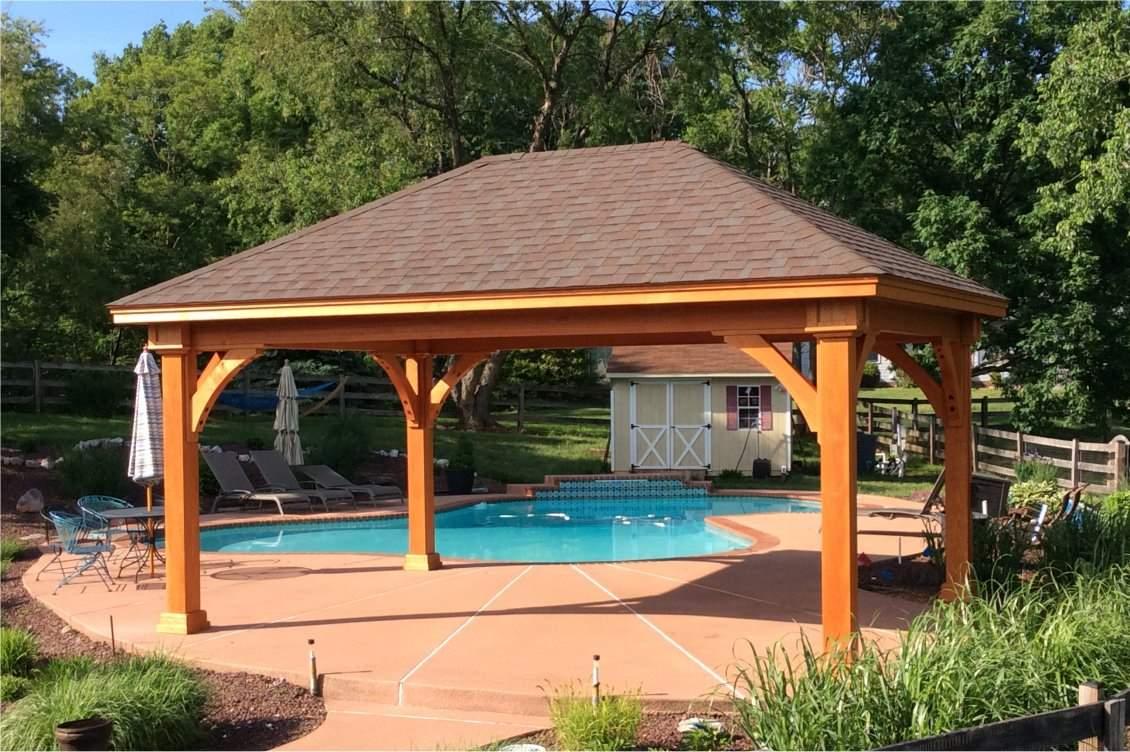 Grand Estate Wood Pavilion