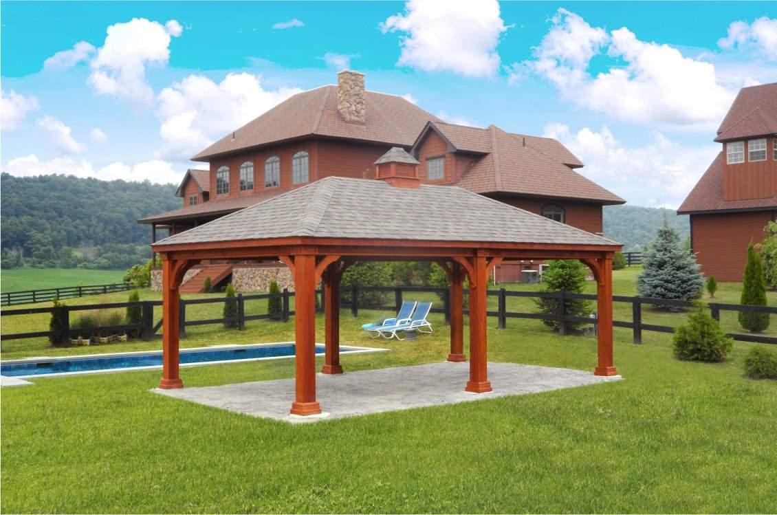 Traditional Wood Pavilion