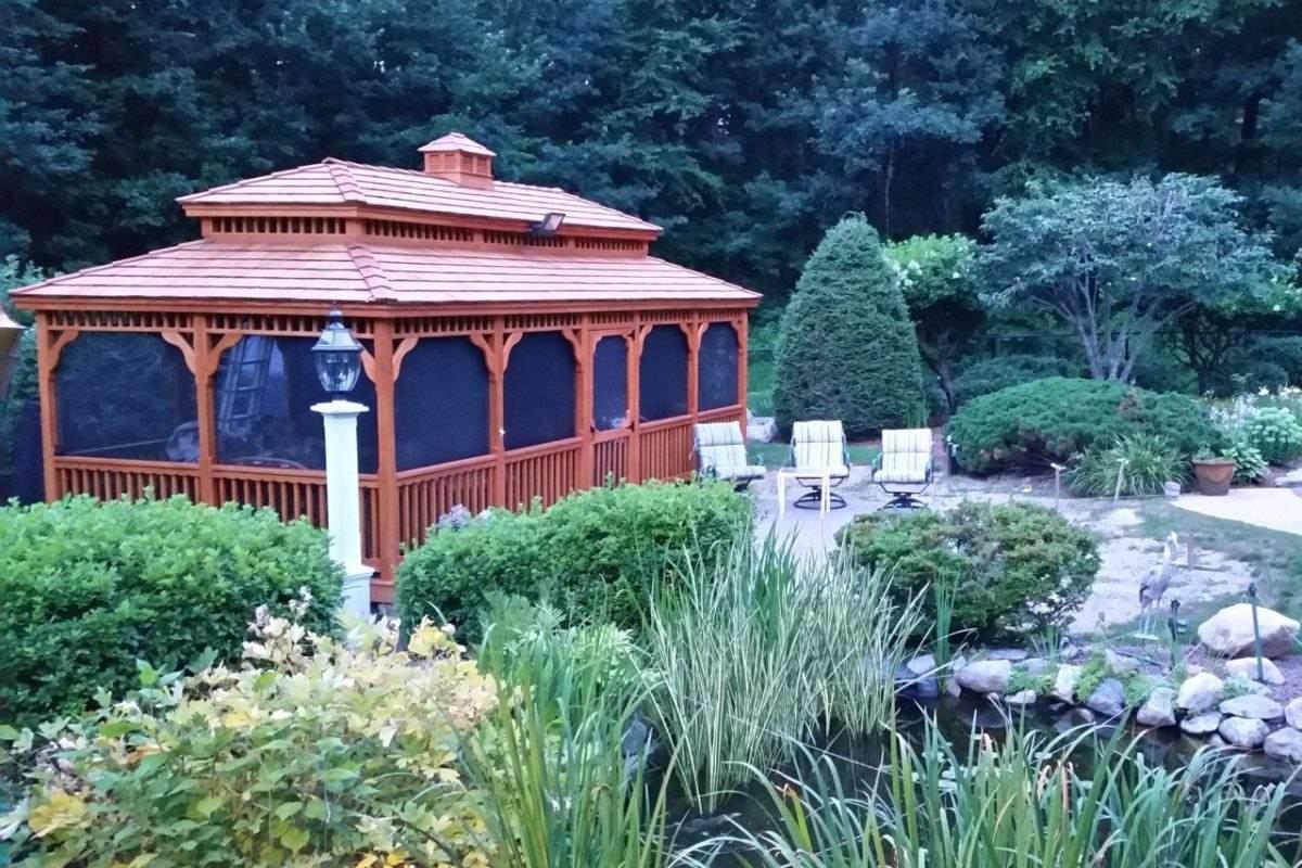 wood pagoda roof gazebo