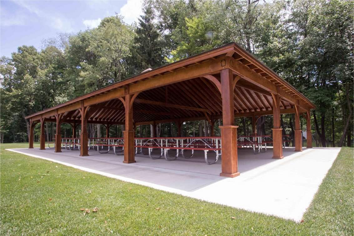 Wood Pavilion, RCOG Low Angle Showing Ceiling