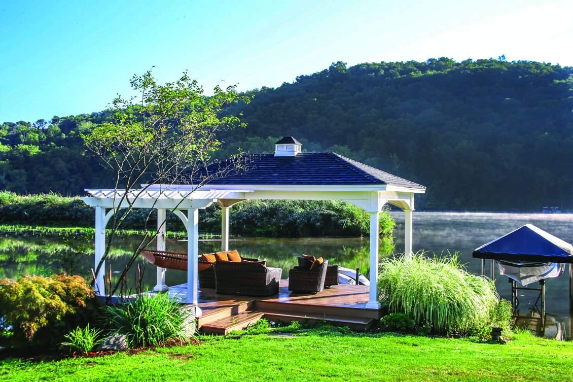 Custom Pergola Pavilion Combination
