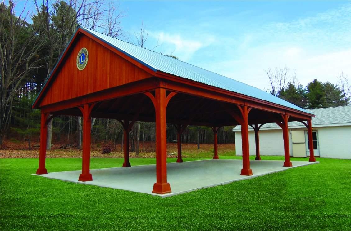 Large Lions Club Wood Pavilion