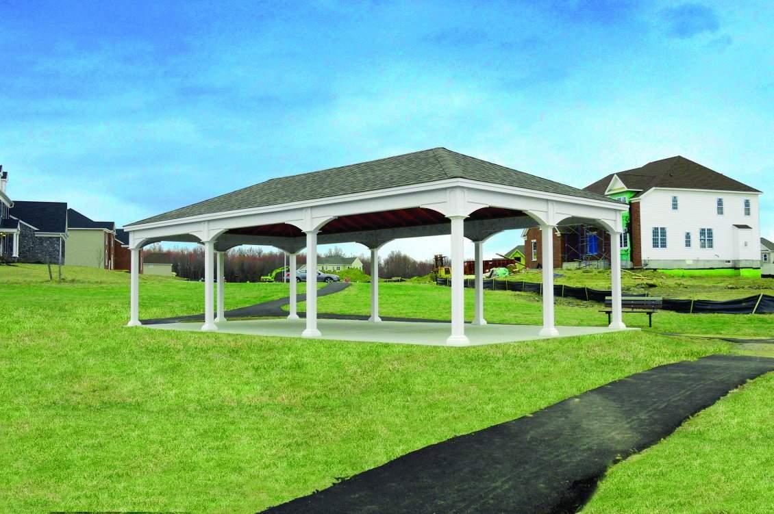 Large Traditional White Vinyl Pavilion