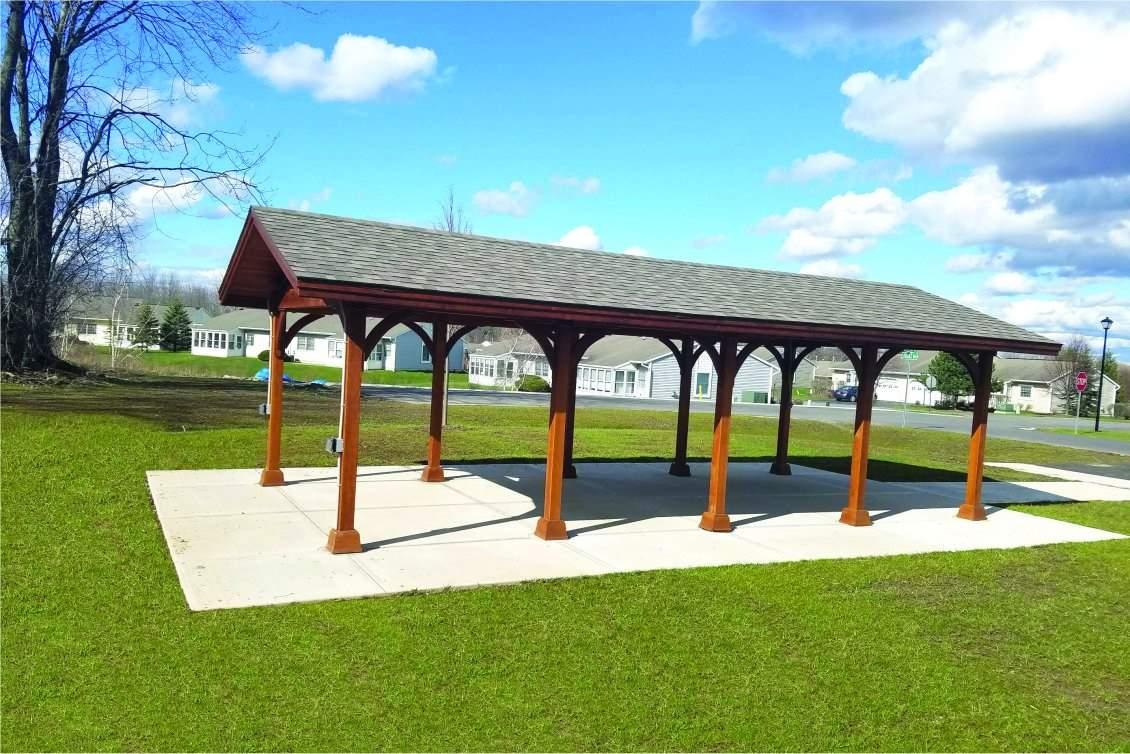 Large Custom Wood Pavilion