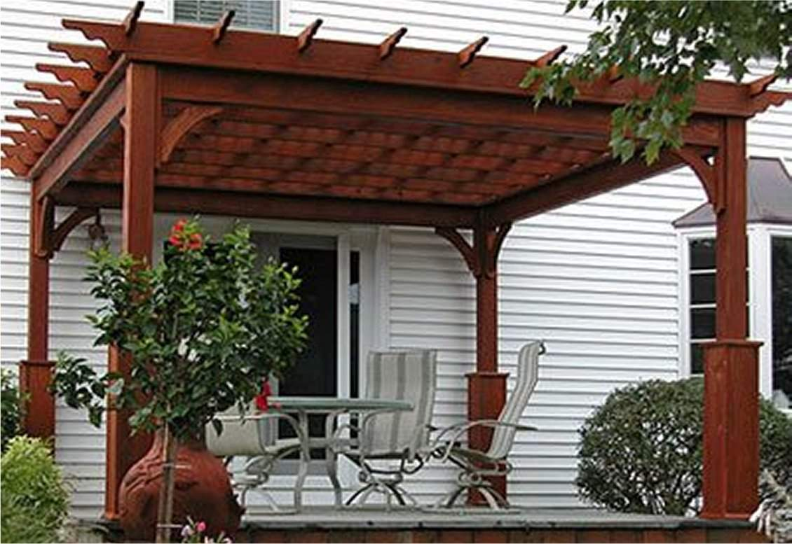 Traditional Wood Pergola with 5-inch superior posts