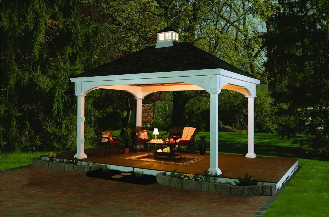 Traditional White Vinyl Pavilion