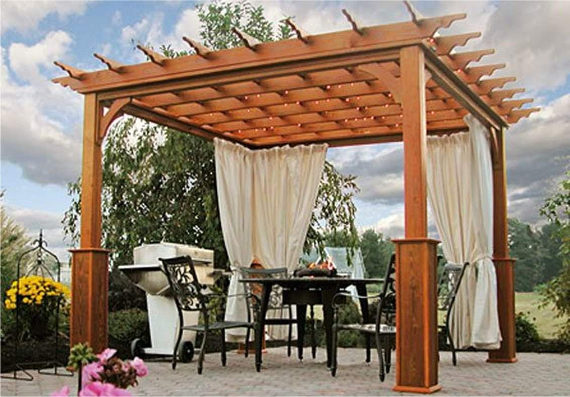 Traditional Wood Pergola
