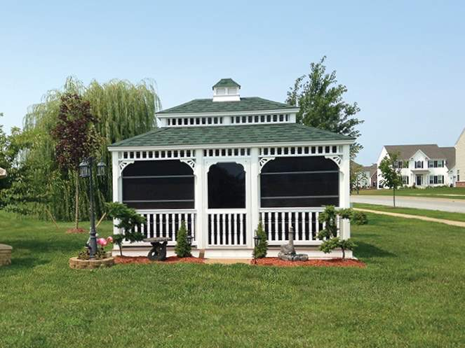 12' x 16' Vinyl Rectangle Gazebo