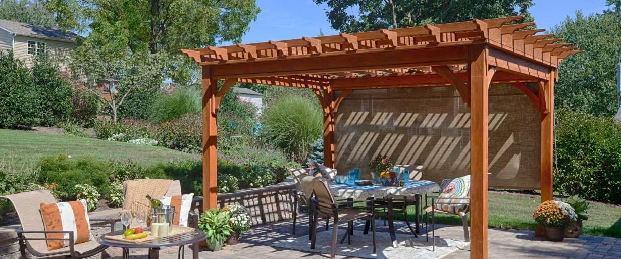12'x12' Traditional Wood Pergola