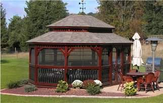 12' x 16' Baroque Wood Oval Gazebo