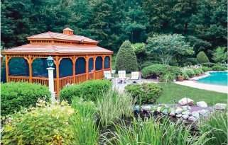 14' x 24' Rectangle Wood Gazebo