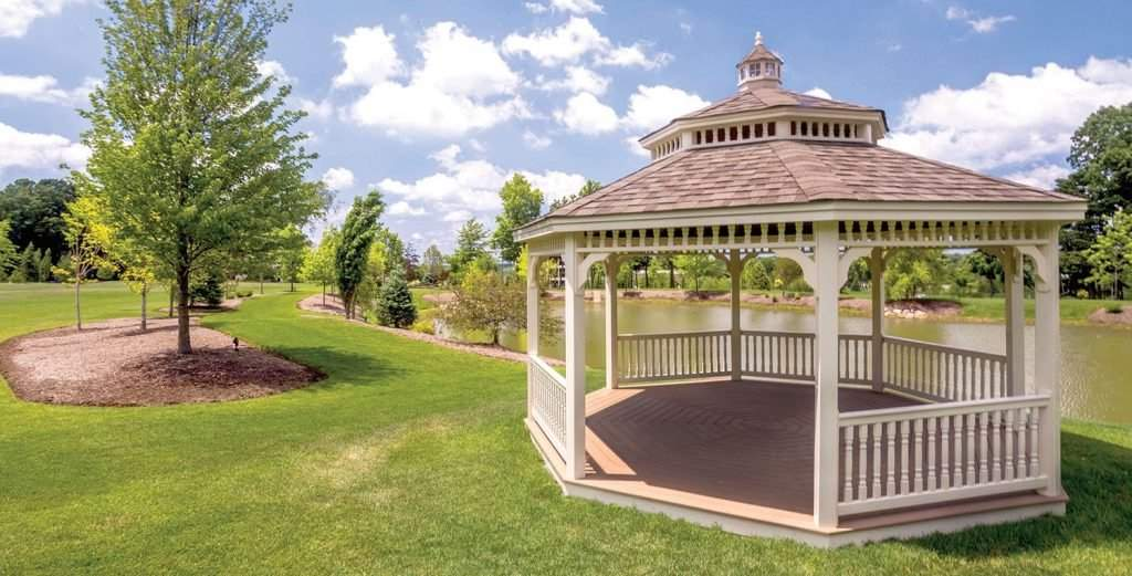 18' Almond Vinyl Octagon Gazebo