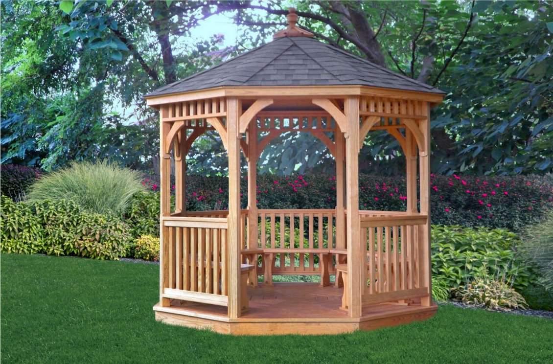 10' Octagon Wood Gazebo