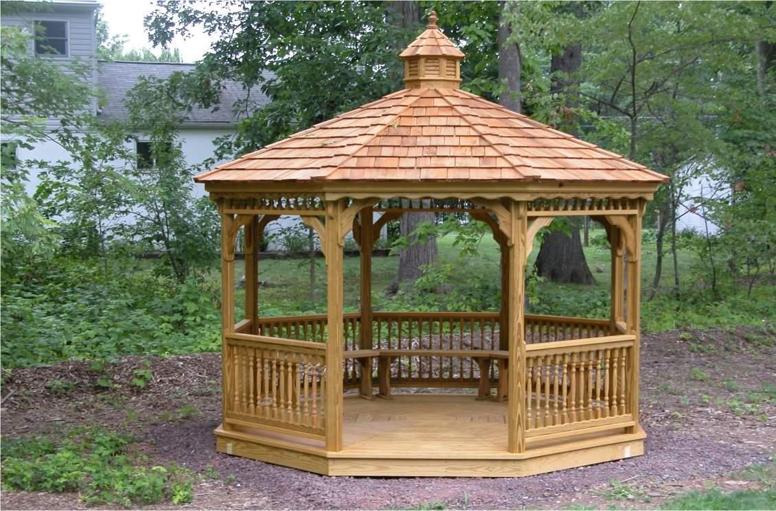 12' Octagon Wood Gazebo