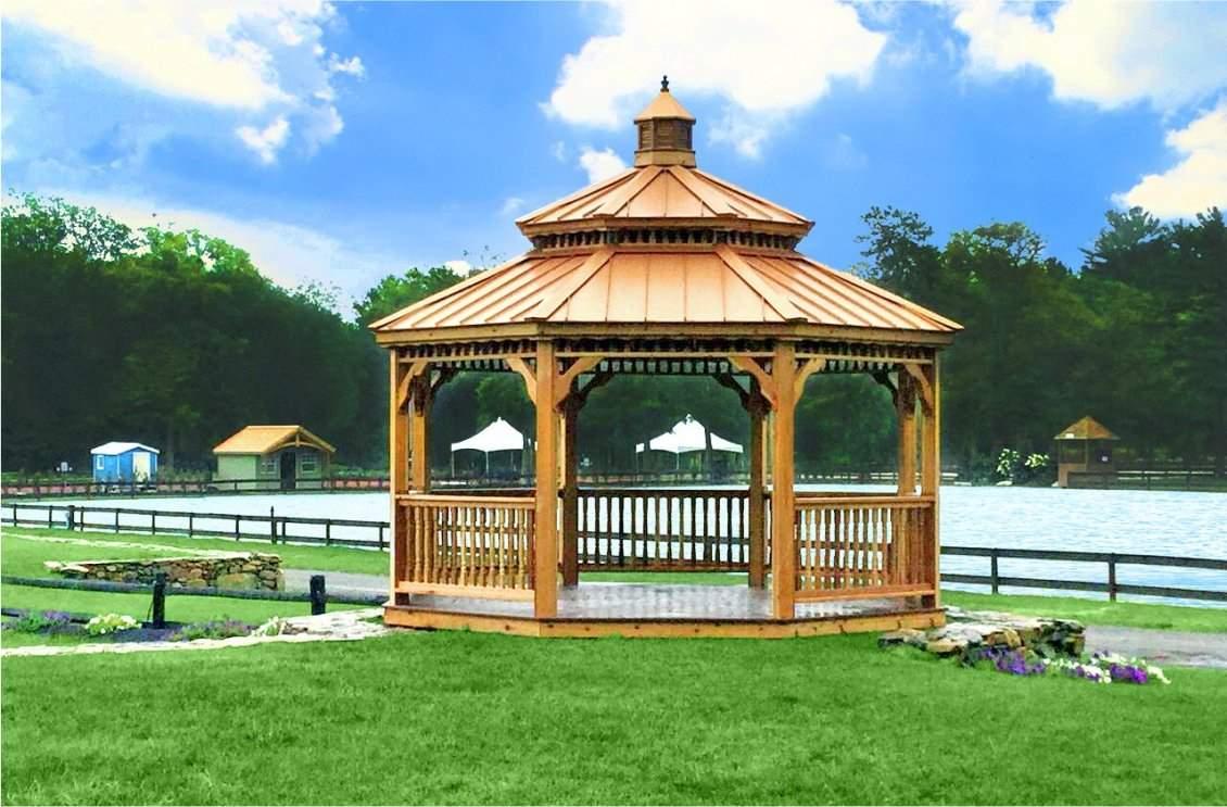 16' Oct New England Cedar Wood pagoda Cupola