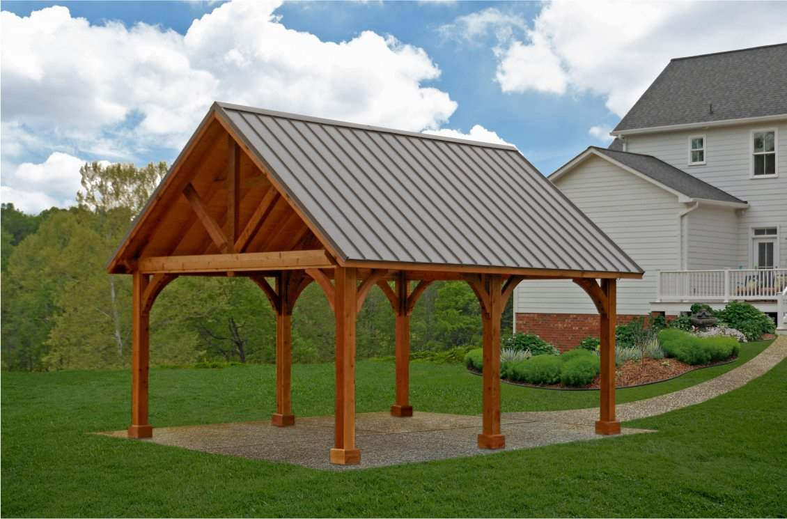 16' x 20' Alpine Wood Pavilion