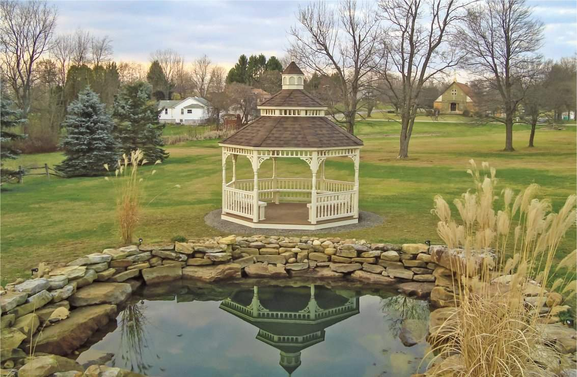 18' High Pitched Cathedral Victorian Gazebo
