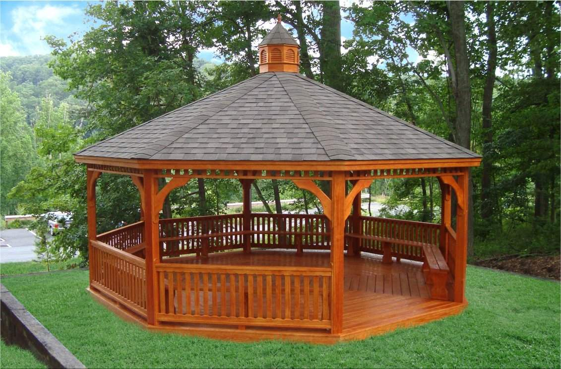 20' Octagon Classic Gazebo with benches