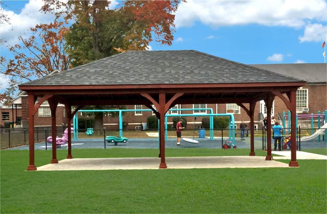 20' x 28' Traditional Wood Pavilion