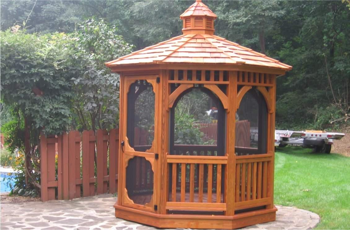 8' Octagon Wood Gazebo