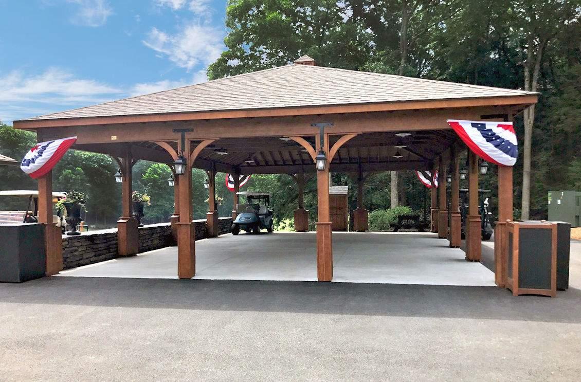 "30' x 42' Wood Pavilion 7"" superior post skirts"
