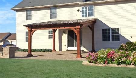 14' x 14' Cedar Santa Fe Pavilion Canyon Brown Stain