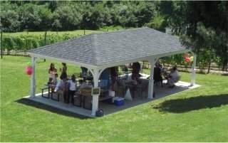 16' x 32 Hip Roof Wood Pavilion, 5x5 superior post skirts, shadow Black Shingles 2 Andrew Fialdini