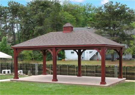 Traditional Wood 14x24 Pavilion