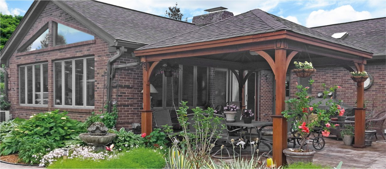 14x14 Wood Pavilion with superior posts