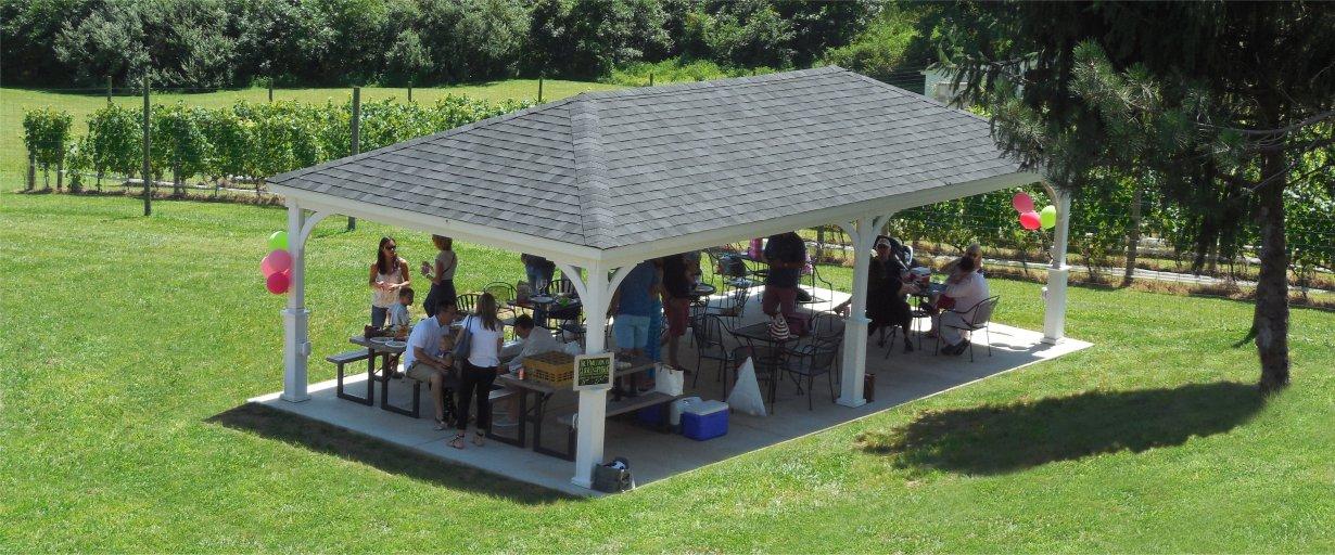 16'x32 Hip Roof Wood Pavilion