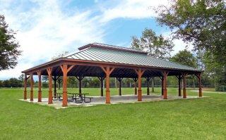 40' x 60' Custom Wood Pavilion