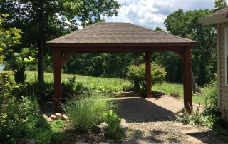 12' x 16' Traditional Wood Pavilion, 8x8 posts