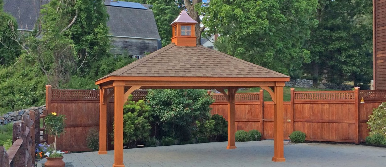 14x16 Traditional Wood Pavilion