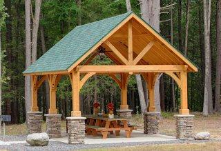 Alpine Cedar Wood Pavilion