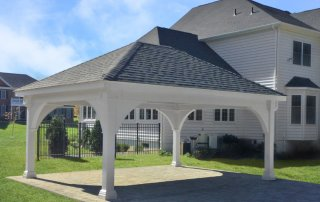 16x20 Grand Estate Pavilion Dual Black Shingles