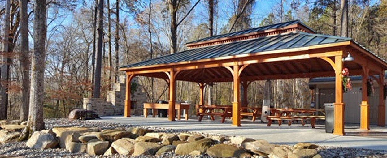 24' x 40' Custom Wood Pavilion