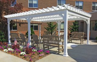 Traditional Vinyl Pergola, 6 inch posts