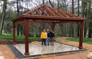 pavilion shell completed by customer