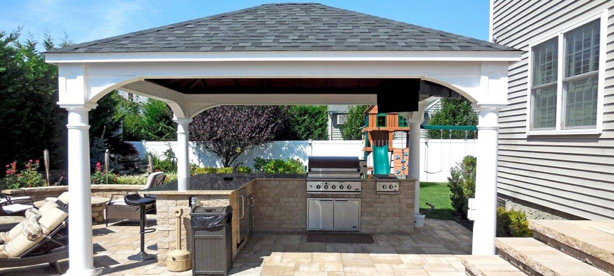 Vinyl Pavilion Outdoor Kitchen