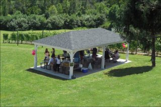 16; x 32' Custom Wood Pavilion