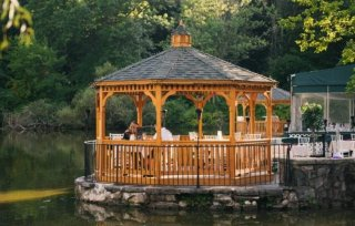 14' Wood Gazebo at Stone-House-Restaurant