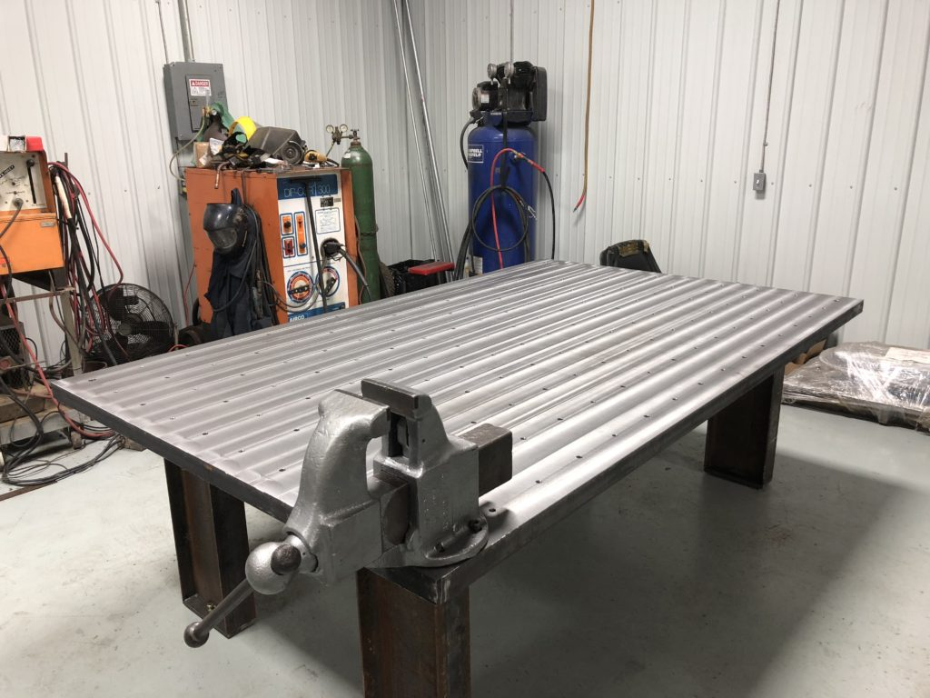 Fabricated Welding Table